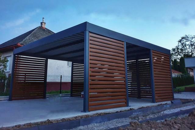 Wiaty garażowe, carporty, ogrodzenie nowoczesne PRODUCENT