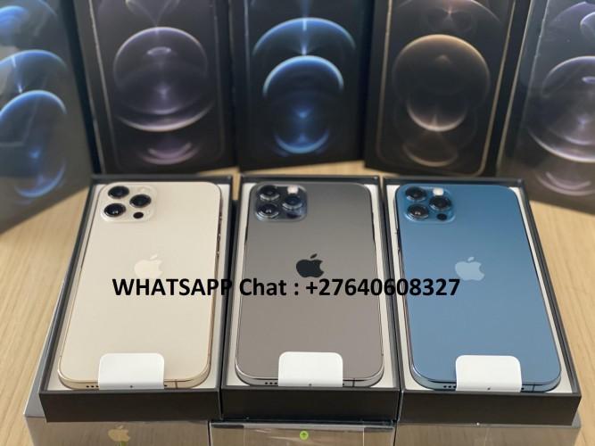 Apple iPhone 12 Pro 128GB = 500euro, iPhone 12 Pro Max 128GB = 550euro, iPhone 12 64GB = 430euro , iPhone 12 Mini 64GB = 400euro, iPhone 11 Pro 64GB = 400euro, iPhone 11 Pro Max 64GB = 430euro, WHATSAPP : +27640608327