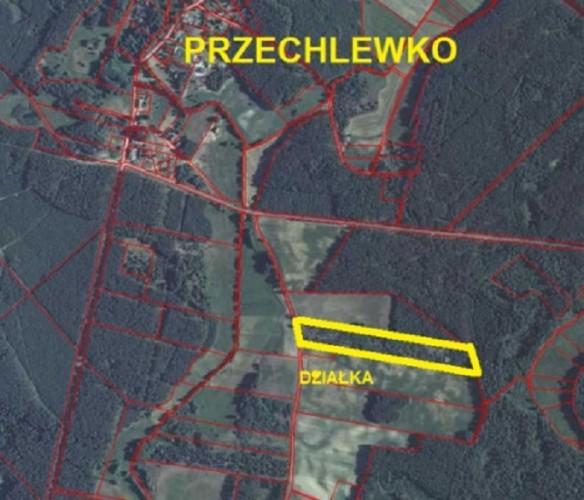 Działka Przechlewko pow. 3,40 ha, piękna działka POD ZABUDOWĘ