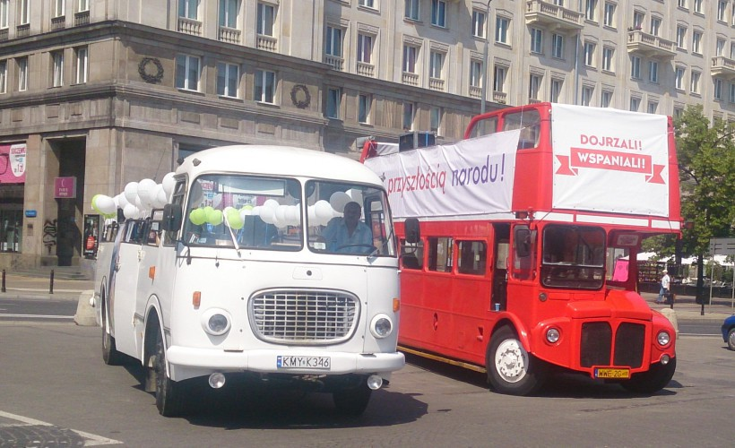 Autobus Jelcz ogórek PRL wersja cabrio