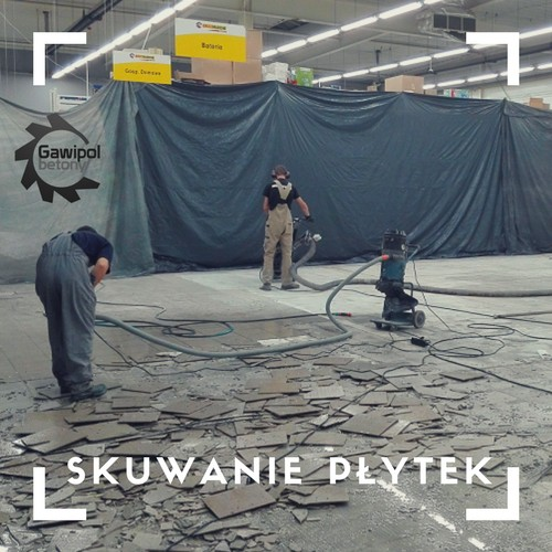 Skuwanie płytek, frezowanie kleju po płytkach Warszawa