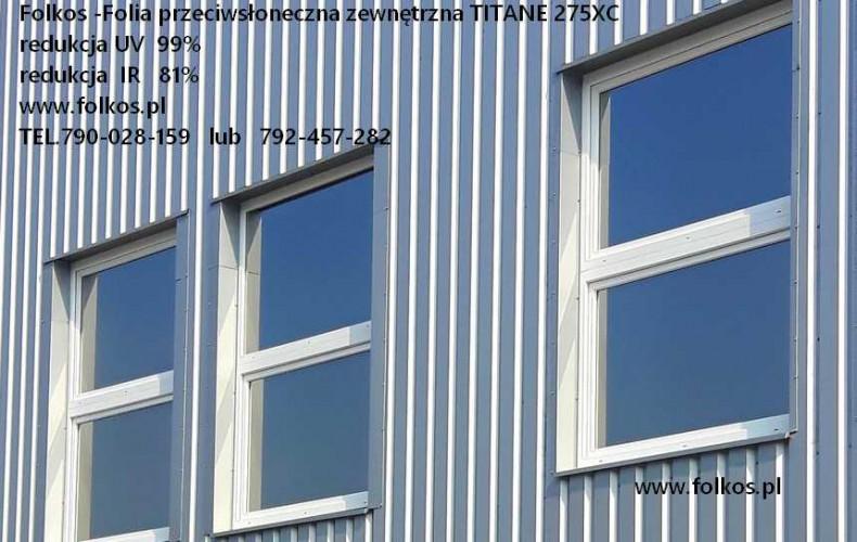 Titane 275 XC -Przeciwsłoneczna folia na okna -Folkos przyciemnianie szyb Warszawa